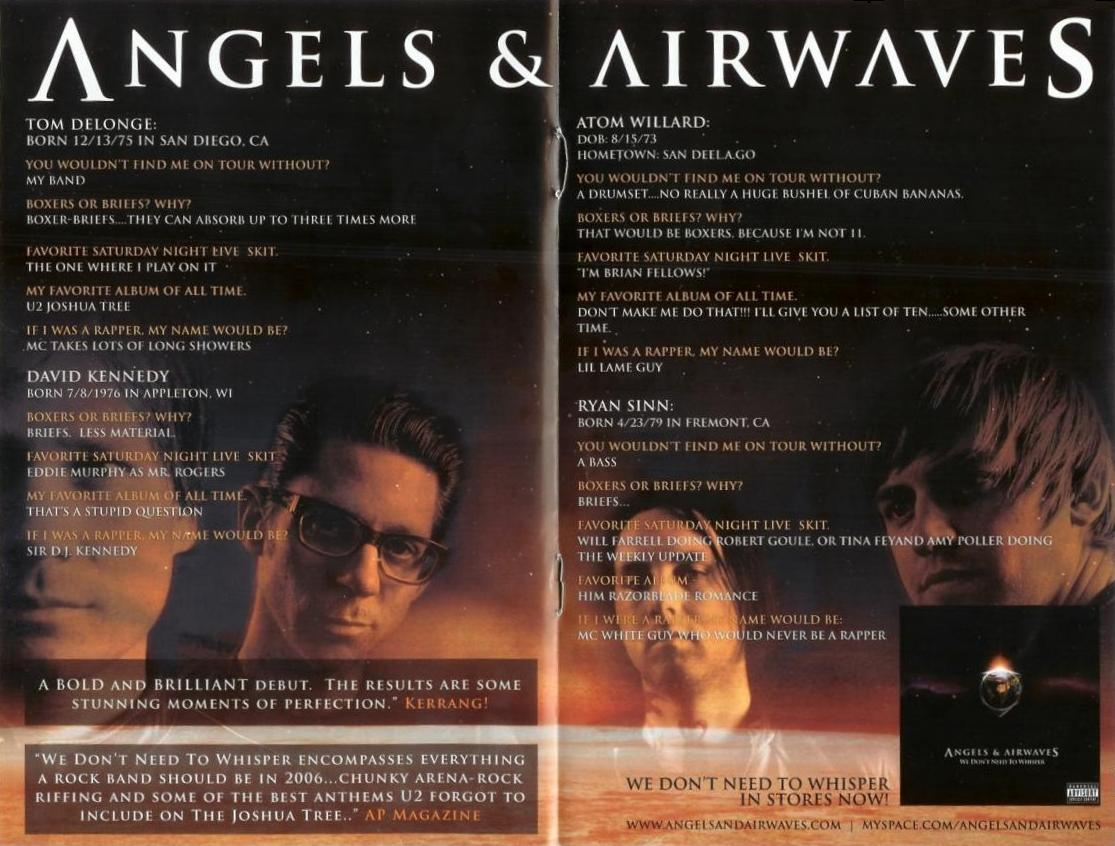 Angels And Airwaves Tour Guide