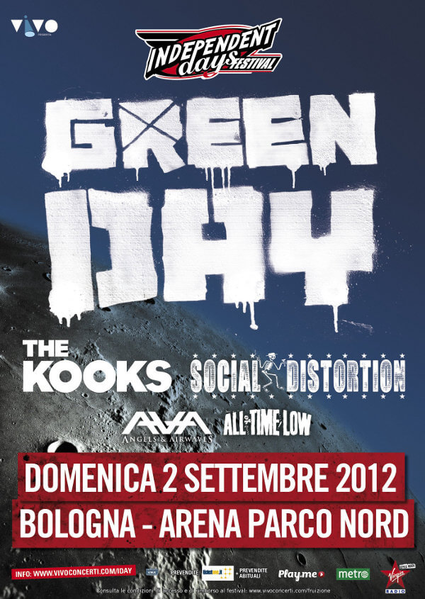 Angels And Airwaves in Italia! I-Day Festival 2012 - Bologna (Arena Parco Nord), 2 settembre 2012